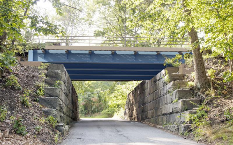 A rendering shows how a new bridge over Intervale Road in Weston will look upon completion