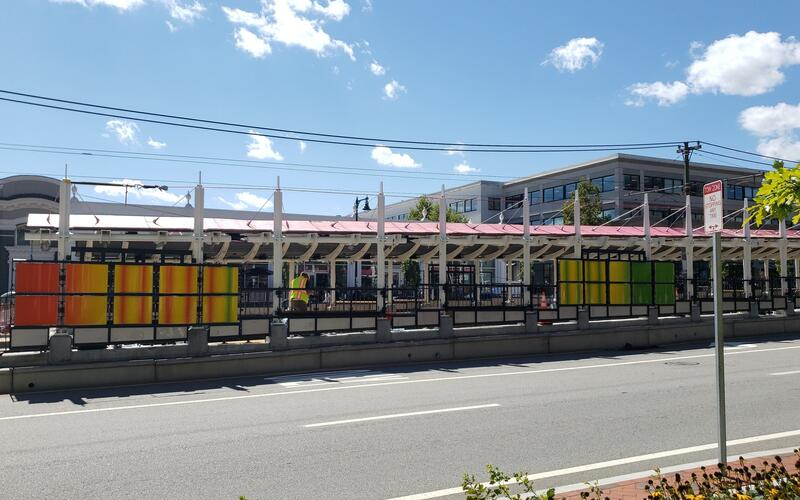 New Architectural Panels at Amory Street Station