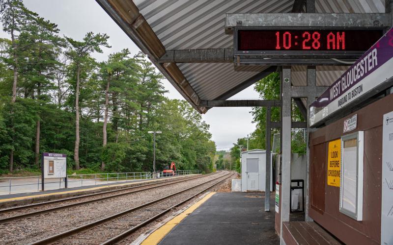 The platform at West Gloucester Commuter Rail Station