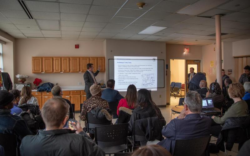 Public meeting in Mattapan on March 27, 2019, to discuss the Mattapan Line Transformation