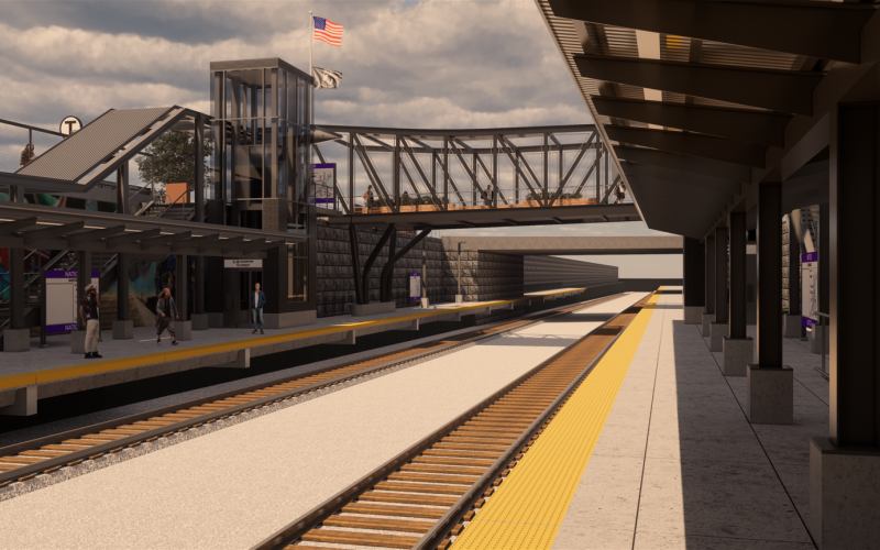 Rendering of Natick Station improvements