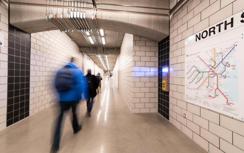 North Station Underground Walkway