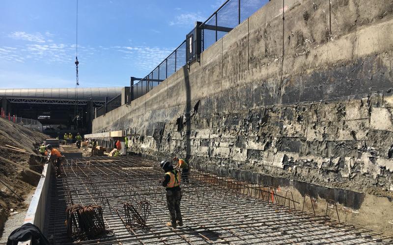 Ruggles platform construction